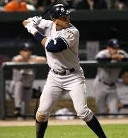 The patented Alex Rodriguez batting stance. Photo credit to Wikipedia.com