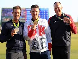 The top 3 finishers in Rio celebrating their Gold Medal. Photo credit to sportinglife.com